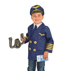 Melissa & Doug Pilot Role Play Costume Set, 3-6 years