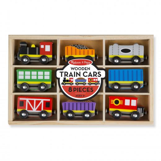 Melissa & Doug Wooden Train Cars