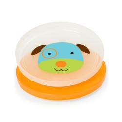 Skip Hop Baby Plate Non-Slip Smart Serve 2 Piece Rubber Grip, Dog