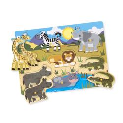 Melissa and Doug Safari Peg Puzzle