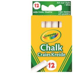 12 Crayola Anti Dust White Chalk