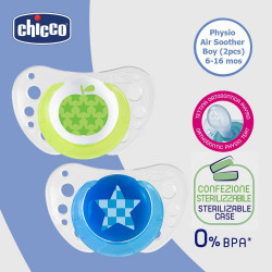 Chicco Dummy pacifier silicone, 2pcs, 6-16 months