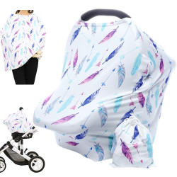 Hicoco Nursing Cover Carseat Canopy - Baby Breastfeeding Cover
