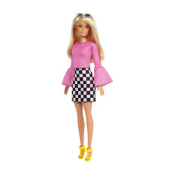 Barbie Fashionistas 104 Pink Blouse Black And White Skirt