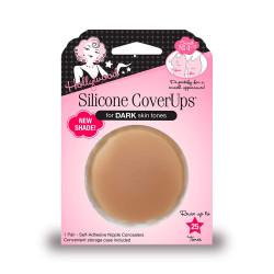 Hollywood Fashion Secrets Silicone Nipple CoverUps Dark Shade, 1 pair