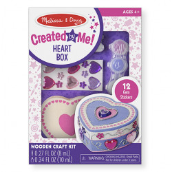 Melissa & Doug Decorate-Your-Own Wooden Heart Box