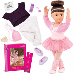 """Our Generation by Battat- Sydney Lee 18"""" Deluxe Posable Ballerina Doll with Book & Accessories- for Age 3 Years & Up"""