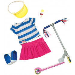 """Our Generation Dolls Cute To Scoot Doll Deluxe Scooter Outfit, 18"""""""