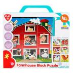 Playgo 9 Piece Farmhouse Block Puzzle