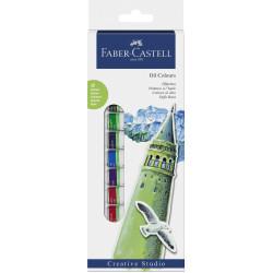 Faber Castell Starter Set Oil Colours, Wallet Of 12, 12x 12 Ml Tube