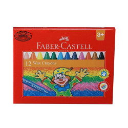 Faber-Castell Wax Crayon Set - 75mm, Pack of 12