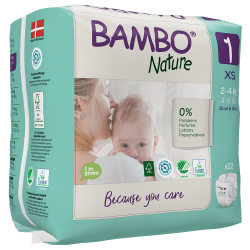 Bambo Nature Newborn Pack, Size 1 (2-4 kg), 22 diapers