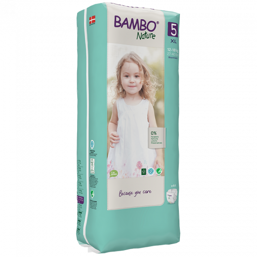 Bambo Nature Diapers Size 5 (12-18 Kg), 44 diapers
