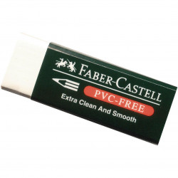 Faber Castell PVC Free Eraser With Sleeve white