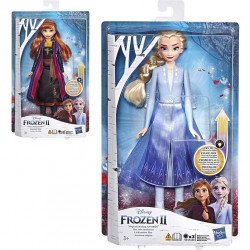 Disney- Frozen Doll ELSA and ANNA With Bright Dress, Assortment