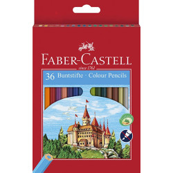 Faber Castell Classic Colour Pencil, Cardboard Wallet Of 36