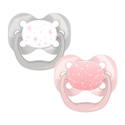 Dr. Brown's Advantage Pacifier - Stage 1, 2-Pack, Pink