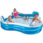Intex Swim Centre Family Pool with Seats, 229 x 229 x 66 cm (Multi-color)
