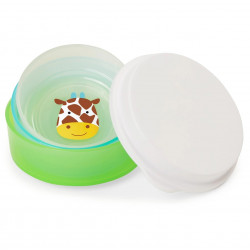 Skip Hop Zoo Smart Serve Non-Slip Bowls, Girrafe