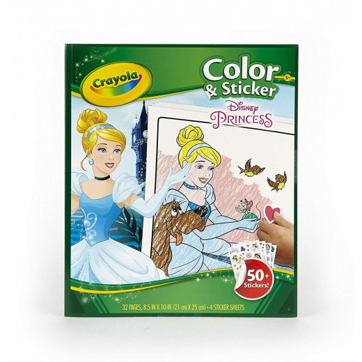 Crayola Disney Princess Color And Sticker Book 4*6
