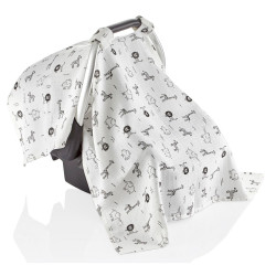 Baby Jem Baby Muslin Car Seat Cover, Zoo