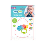 Babyjem Teether Rattle, Blue