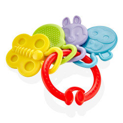 Babyjem Teether Rattle, Red