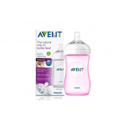 Philips Avent Natural Baby Bottle 260 ml single, Pink