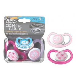 Tommee Tippee Air Style Soother 3-9 months, (2 pieces), Pink
