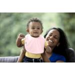 مريلة مصنوعة من القماش مناسبة للأطفال الرضع من تومي تيبي, قطعتين, اللون الوردي
