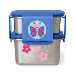 Skip Hop Zoo Stainless Steel Lunch Kit- Butterfly