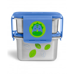 Skip Hop Zoo Stainless Steel Lunch Kit- Dino