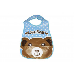Plastic Baby Bib Waterproof, Love Bear