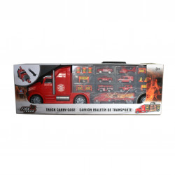 Fire Truck Carry Case with Cars and Signs