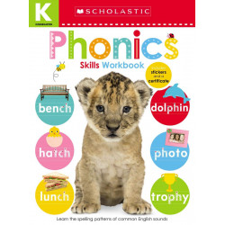 Scholastic Early Learners: Kindergarten Skills Workbook: Phonics, 24 pages