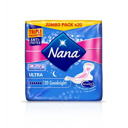 Nana Ultra Normal Wings Pads, 20 Count