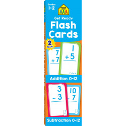 School Zone Get Ready Flash Cards Addition & Subtraction 2-pack, 110 cards