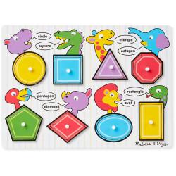 Melissa & Doug Shapes Peg Puzzle