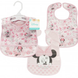 2 Pack Minnie Mouse Bib- Pink