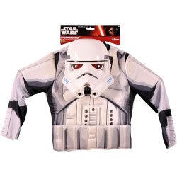Star Wars Darth Vader Boys Muscle Chest Shirt Kit, White