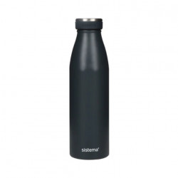 Sistema Stainless Steel Bottle 500ml - Charcoal
