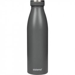 Sistema Stainless Steel Bottle 500ml - Grey