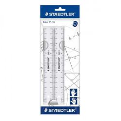 Staedtler 15 cm plastic Rulers Plastic 2 Pack