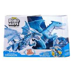 Zuru Robo Alive Roaring Ice Dragon Battery-Powered Robotic Toy, Blue