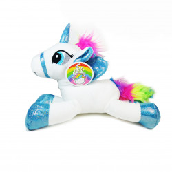 "Sparkle Club, Small Unicorn Plush Pillow 9.8"", White"