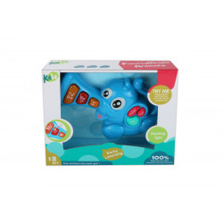 Elephant Music and Light Baby Toy, Blue