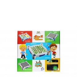 4 في 1 لعبة مجموعة ثعابين وسلالم ، مسودات ، شطرنج ومجموعة لودو