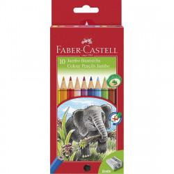 Faber Castell Jumbo Grip Colour Pencil Set 10