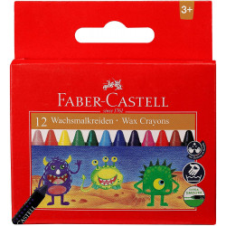 Faber Castell  Wax Crayons 90mm 12 Pack