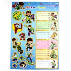 Amigo Stickers Name, Ben ten, 10 sheets